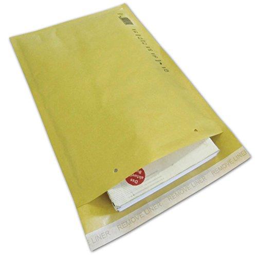 100 Luftpolstertaschen F6-Format - Außenmaße: 240 x 350 mm - Farbe braun/gold