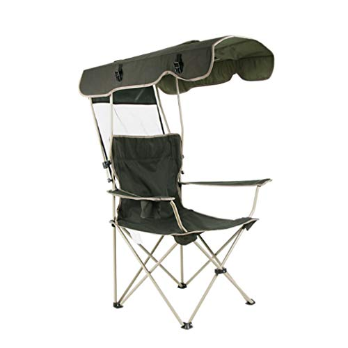 Folding Rocking Chair W/Shade Canopy, Portable Zero Gravity Recliner For Outdoor Lawn Camping Chair Folding Chairs (Color : A)