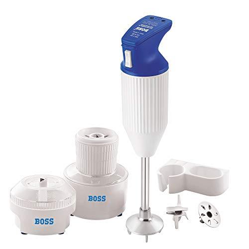 Boss E113 180-Watt Hand Blender with Chutney and Chopper (Blue-White)