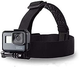 Head Strap Camera Mount Headband for GoPro Hero 8/7 Black/6/5/4/3, with Adjustable Elastic Head Strap, Waterproof Action Camera & Outdoor Sports Camera Accessories