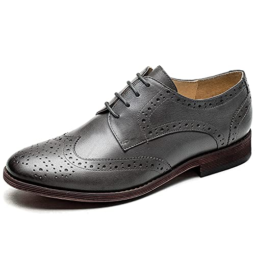 Top 10 best selling list for grey wingtip shoes flat sole