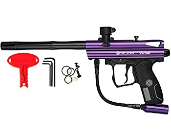 Spyder Victor Semi-Auto Paintball Marker with Extended Warranty  Polish Purple