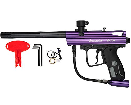 Spyder Victor Semi-Auto Paintball Marker with Extended Warranty (Polish Purple)
