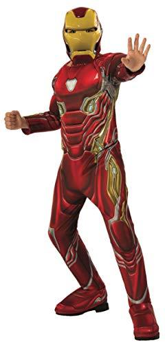 Rubies - Disfraz Oficial de Los Vengadores de Iron Man, Talla Grande, Edad 8 - 10, Altura 147 cm