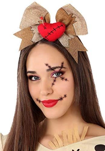 Ladies Cute Voodoo Doll Halloween Headband Hairband Fancy Dress Costume Outfit Accessory