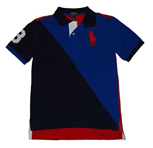 Ralph Lauren Jungen Poloshirt Big Pony Colorblocked - Blau - Medium