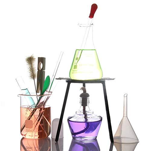 Labor Magnetrührer Alkohol Lampe Heizung Set Elektroofen Stativbecher Reagenzglas Pipette Chemisches Glas Laborgeräte Lehrinstrument (Color : A)