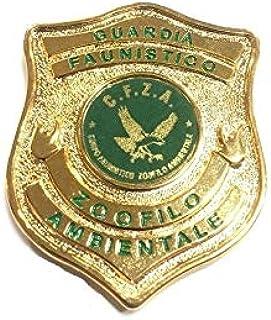 Placca con Clip Guardia Faunistico Zoofila Ambientale C.F.Z.A. da applicare nei vari Portafogli 1WB 1WD 1WG 1WE Vega Holst...