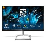 Philips 276E9QDSB/00 - Monitor LCD de 27' con Flicker Free (FHD, LED, resolución de 1920 x 1080 Pixels, Modo LowBlue, tecnología AMD FreeSync, HDMI, VGA, DVI-D), Color Negro y Plata