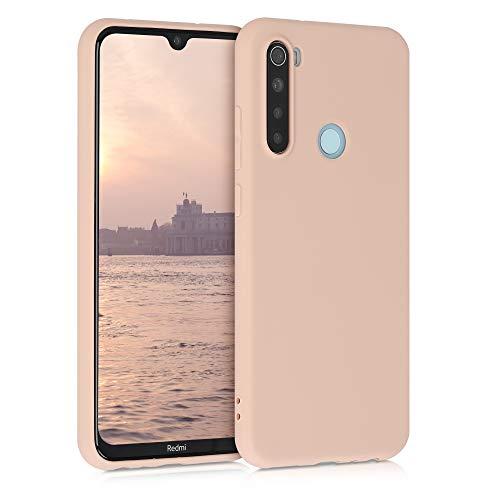 kwmobile Cover Compatibile con Xiaomi Redmi Note 8 (2019 2021) - Cover Custodia in Silicone TPU - Backcover Protezione Posteriore- Madre Perla