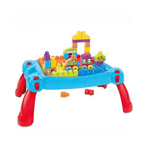 N/Z Living Equipment Building Table Mesa de Actividades para niños pequeños Bloques de construcción Todo en uno Mesa de Actividades múltiples