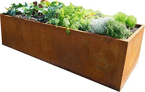 Jabo Design HO01 Hochbeet Pflanzengefäße Deko Rostdeko Edelrost Schale Blumen Taschen Skulptur Metall