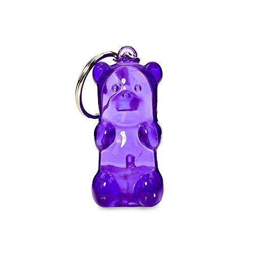 Gummygoods Bite-Sized Gummy Bear Keychain Kids Nightlight, LED Light, Battery Included, (Purple)
