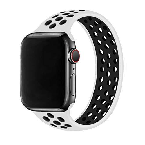 Correa Solo Loop para Apple Watch Band 44mm 40mm 38mm 42mm Correa elástica de silicona transpirable pulsera banda iWatch Series 3 4 5 SE 6
