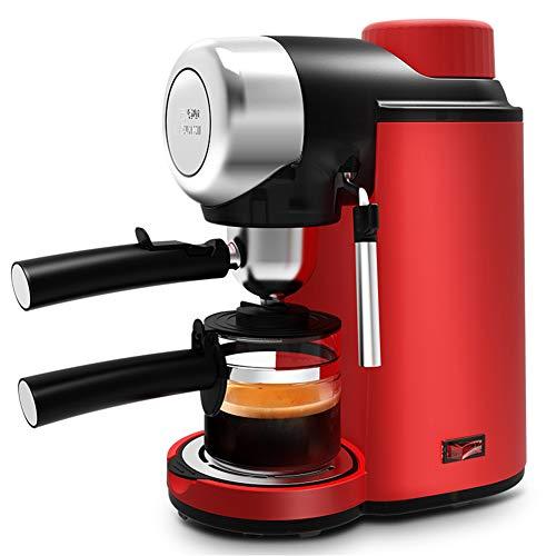 MAYLIBINA Moulin à café Machine à Café Expresso Portable, Machine à Café Servir Machine à Expresso à Commande Manuelle Semi-Automatique Mousse De Lait MéNage Rouge