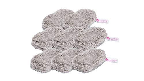 Abschmink Wölkchen® 8er Set - waschbare Mikrofaser Abschminkpads - immer wieder verwendbar - super sanfte & gründliche Reinigung nur mit Wasser - Farbe: Grau