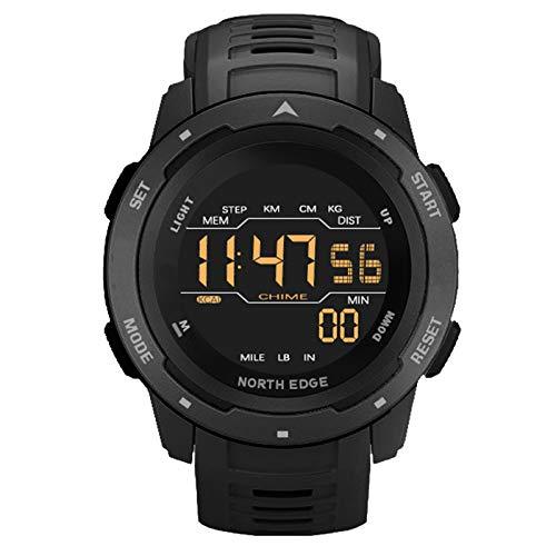 Smartwatch Fitness Armband 50M Wasserdicht, Der Display Ist Bei Starkem Licht Gut Sichtbar Und Nachts Sichtbar, Uhren Für Männer Frauen Digitale Sportuhr,Schwarz