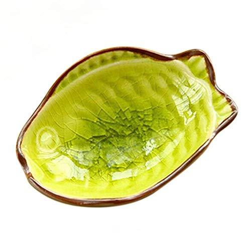 Plato de cena 2 piezas Mini Plato de postre en forma de hoja Platos de aperitivo Salsa en forma de pescado Plato Vajilla Sushi Merienda Platos de vinagre de soja Platos de inmersión