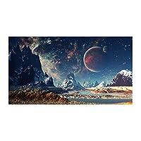 宇宙惑星風景キャンバス絵画スペースギャラクシープリントとポスターリビングルームの装飾のための壁アート画像(40x70cm)フレームレス