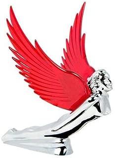 Grand General Chrome Flying Goddess Hood Ornament - Red