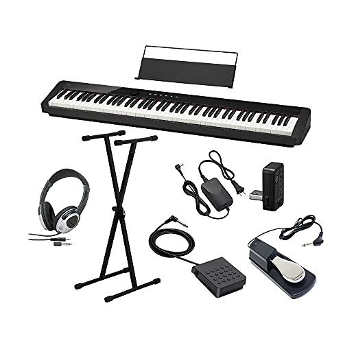 CASIO PX-S1100 BK ブラック 電子ピアノ 88鍵盤 ヘッドホン・Xスタンド・ダンパーペダルセット カシオ