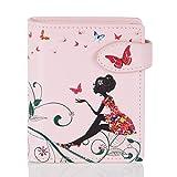 Shagwear portafoglio per giovani donne Small Purse : Diversi colori e design: (oasi farfalle rosa/Butterfly Oasis)