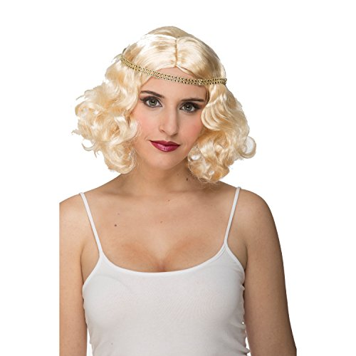 viving kostuums viving costumes204642 blond Charleston pruik (One Size)