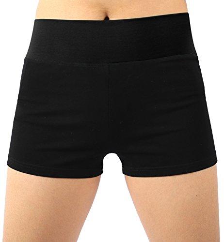 Neonysweets Womens Workout Yoga Short Pants Exercise Gym Shorts Black M