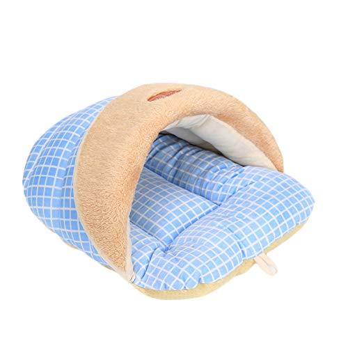 Topdo Casa para Mascotas con Cómodo Cama para Perros Perrera Gato del Perro de Perrito Sofa House Suave Forma de Zapato 1 Pieza Azul L(52 * 40 * 32CM)