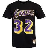 Mitchell & Ness NBA Magic Johnson L.A. Lakers Name & Number - Camiseta Negro M