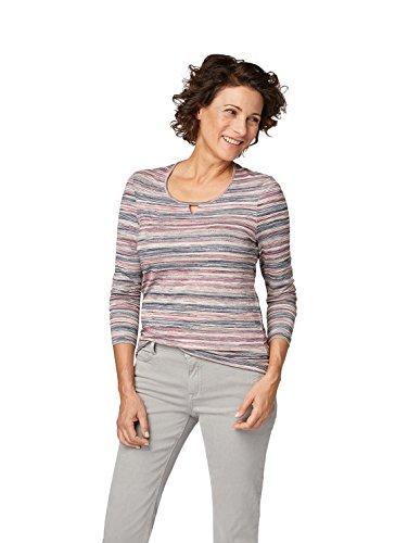 Bonita Damen Shirt Langarm Mehrfarbig Alloverdruck (S)
