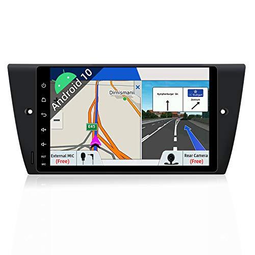 Autoradio Android 9.0 a doppio DIN per BMW E90/E91/E92/E93 (2005-2012), navigazione GPS, fotocamera posteriore e Canbus, touch screen da 9' 2G+32G, supporta DAB+/WIFI/Bluetooth/USB/SD/Mirror Link