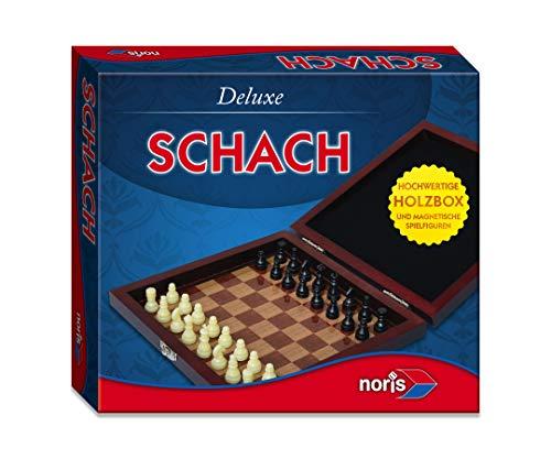 Noris 606108005 606108005-Deluxe reisspel schaak, speelklassieker