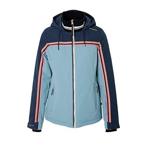 Brunotti ski-jack snowboardjas Maleo Woman snowjacket blauw winddicht verwarmend