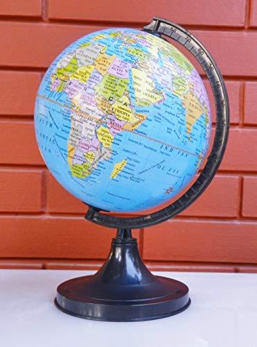 Cosmic Globe Exports 5 Inch Educational Laminated Political Blue World Plastic Globe;Globe For Kids;Globe For Teachers;Globe For Students;Globe Small;Globe For Kids' Study Room;Desk Globe