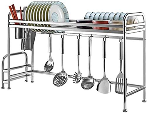 KMILE Stainless Steel Dish Drying Rack Kitchen Supplies Storage Counter Organizer Over Sink Dish Drainer Shelf Utensils Chopstick Dish Holder Dish Storage Rack