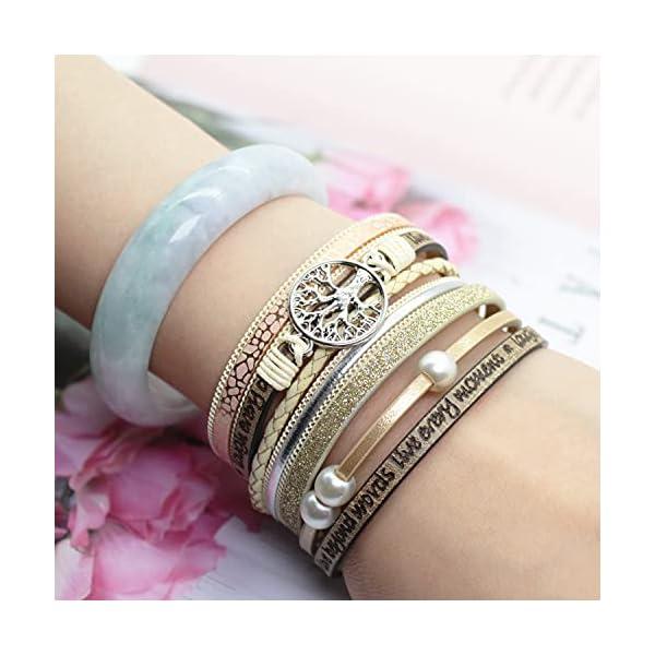 LightOnIt Boho Leather Wrap Bracelet 2