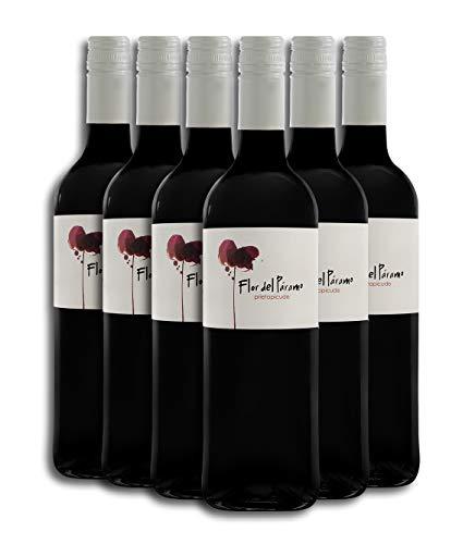 Vino Tinto - Leyenda del Páramo - Flor Del Páramo - Vino Premiado - Uva Prieto Picudo - Caja de 6 botellas de 75 cl. - Envio en caja protectora de alta resistencia para un transporte 100% seguro