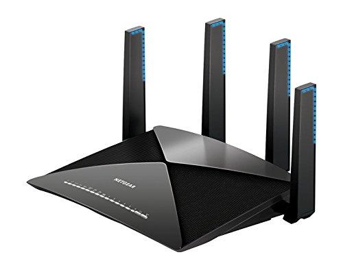 Netgear R9000Nighthawk WLAN Router AD7200 (X10 Tri-Band Quad-Stream, bis zu 7200 MBit/s, für 60 GHz WLAN-Geräte, Abdeckung bis 200m², 6x 1G Ethernet-, 1x 10G SFP+ & 2 USB-Ports, MU-MIMO & Dyn. QoS)