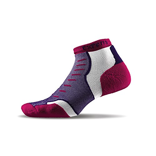 THORLO Experia Experia No Show Chaussettes Mixte Adulte, Magenta Vibe, FR : S (Taille Fabricant : S)