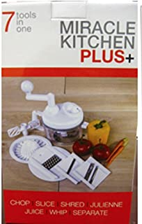 Miracle Kitchen Plus + New & Upgraded By Chef Vinni. Do Not Be Fooled By Cheap Imitation Knockoffs! This Is the Original Us Patented 10 in 1 Food Processor. This Is the Only Food Processor with an Unconditional Lifetime Warranty! In Addition It Has Special Features Made From Top Quality Materials, High Ration Industrial Gear System, and a Lexan Bowl. Chef Vinni's Signature Recipes & Cookbook Are Included. www.chefvinni.tv