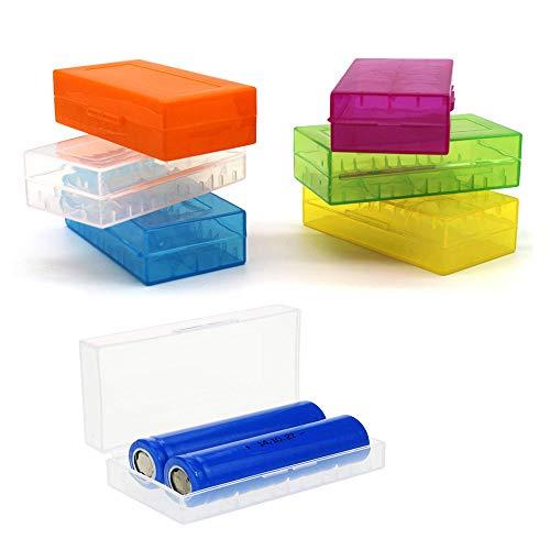 DELSEN 6 Stück Batterie Box Akkubox für 18650 18350 Batterien Schutz