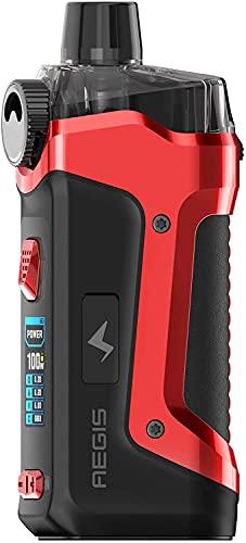 Original Geekvape Aegis Boost Pro Pod Kit 100W Electronic Cigarette Vaporizer with 6ML Cartridge P Coil (Red)