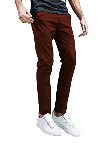 Match Mens Slim-Tapered Flat-Front Casual Pants (32, 8105 Tan)
