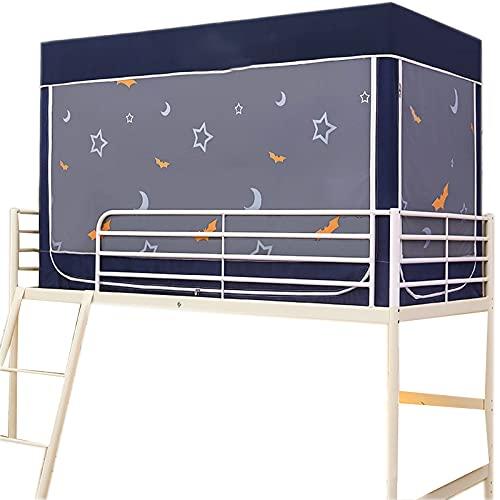 Säng gardin dammtät 0,9m anti-myggor blackout myggnät student student sovsäng integrerad gardin blue moon-0.9m