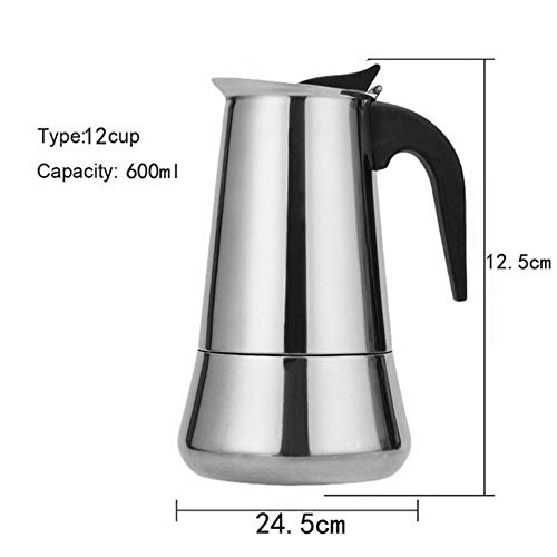 Learn More About 100/200/300/450ml Espresso Coffee Maker Portable Moka Pot Stainless Steel Coffee Br...
