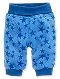 Schnizler Unisex Baby Hose Fleece Pumphose Babyhose Sterne mit Strickbund, Oeko-Tex Standard 100, Blau (Blau 7), 80