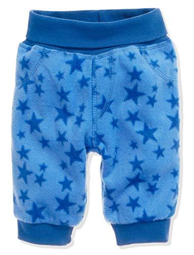 Schnizler Unisex Baby Hose Fleece Pumphose Babyhose Sterne mit Strickbund, Oeko-Tex Standard 100 Blau (Blau 7), 80