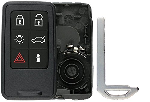 KeylessOption Keyless Entry Remote Smart Key Fob Case Shell Button Pad Outer Cover For Volvo KR55WK49264
