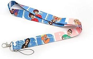 سلسلة مفاتيح من Anime Source The Big Bang Theory TV Series Lanyard ID Badge Holder اكسسوار حلقة مفاتيح شيلدون فيزياء خبراء...